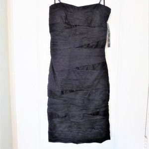 New Strapless Fitted Organza Dress LBD